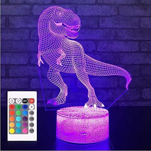 Lámpara De Noche Con Diseño De Dinosaurio Para Niños Con