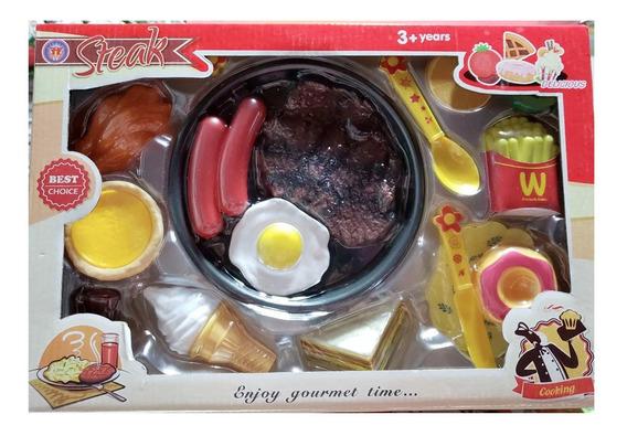 Set Comida Rápida Cocina Juguete Didáctico Bazar James