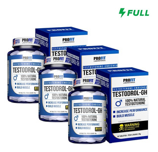 3x Testosterona Pré Hormonal Testodrol - Gh 60 Tabletes