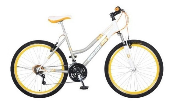 Bicicleta Benotto Madeira Montaña Acero R26 21v Dama Plata
