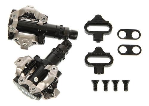 Par Pedal Clip Shimano Preto Novo C/ Tacos M520 380gr