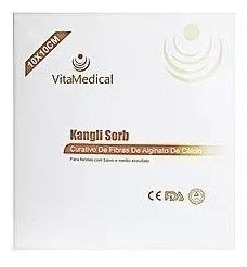 Curativo Alginato De Calcio 10x10 Cm Vita Medical C/ 10
