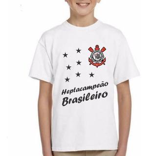 Camisa Infantil Corinthians Heptacampeão Brasileiro Futebol