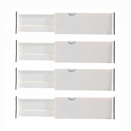 Kingrol Paquete De 4 Separadores De Cajones Ajustables Con E