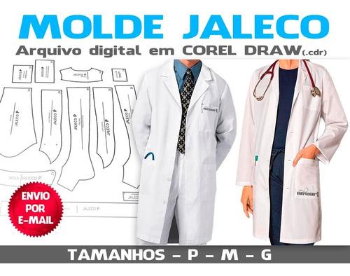 Molde De Jaleco - Envio Por E-mail