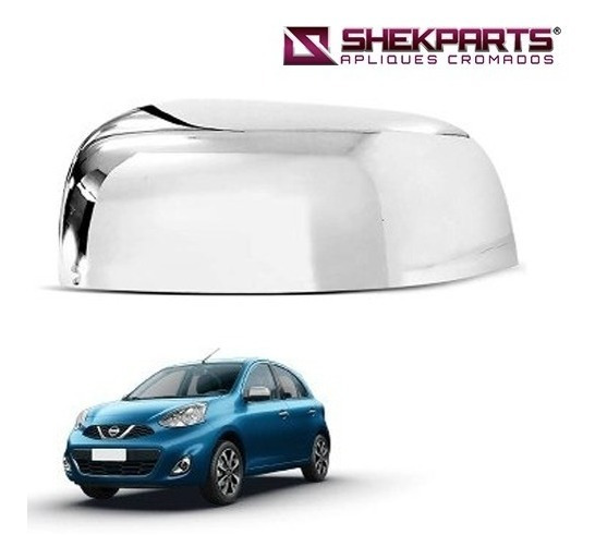 Capa Cromada Retrovisor Nissan March 2011 A 2015 Le