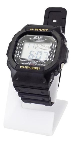 Relógio Masculino Borracha Digital 100% Funcional Original