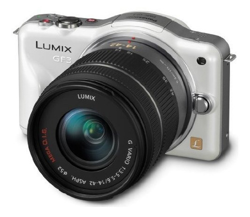 Panasonic Lumix Dmcgf3kw 12 Mp Micro 43 Camara De Sistema Co