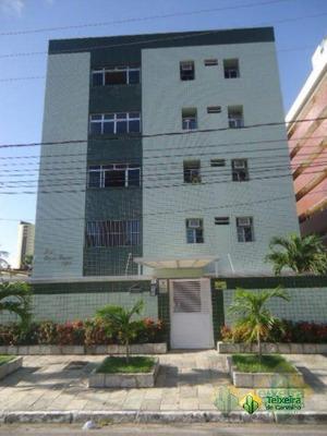 Apartamento Com 3 Dormitórios Para Alugar, 53 M² Por R$ 900/mês - Tambaú - João Pessoa/pb - Ap0009
