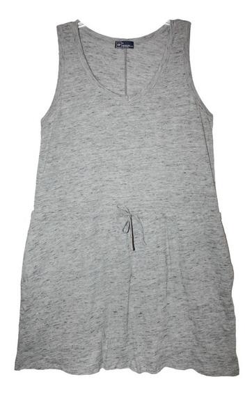 Vestido Gris Gap Casual Corto Mediano Tipo Camiseta Nuevo