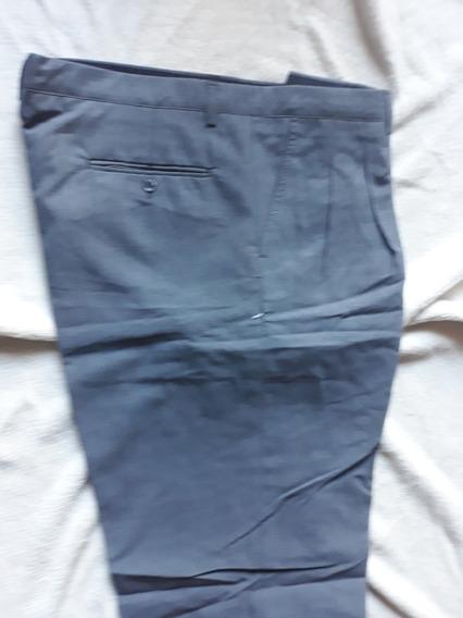 Pantalon De Vestir Liso Gris Talle 48