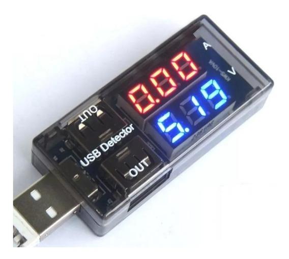 Testador Usb Tester Voltage Current Voltímetro Amperímetro