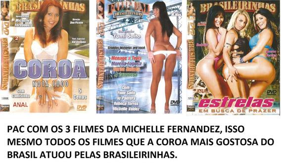 Dvd - Brasileirinhas - (pac 3 Filmes) Michelle Fernandes
