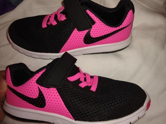 Zapatillas Nike, Nena, Flex Experience Rn5, Negras Y Rosas