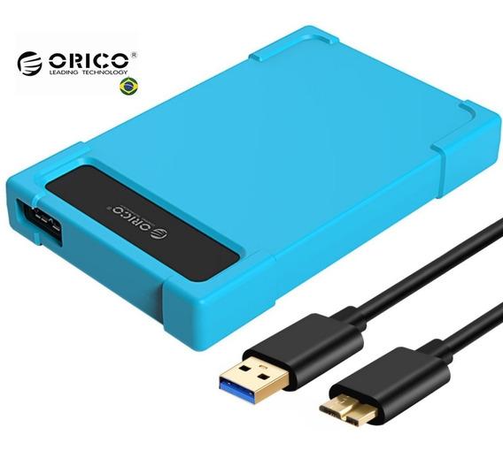 Case Hd Notebook 2.5 Usb 3.0 Em Silicone Proteção Maxima