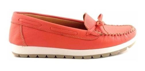 Mocasin Zapato De Mujer Cuero Briganti Goma - Mcmo03593 Fl