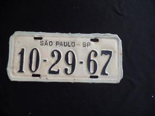 Placa De Carro - 10 - 29 - 67 - São Paulo / Sp