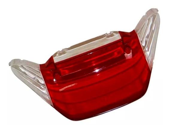 Lente Da Lanterna Traseira Yamaha Fazer 250 2005 Ate 2010 Vermelho / Cristal Paramotos