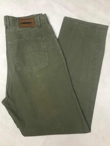 Pantalón Jeans Hombre Kevingston Talle 46 Verano Poplin Verd