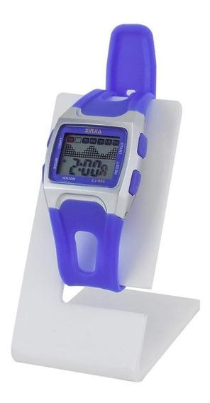 Relógio Masculino Digital Azul Á Prova D´água