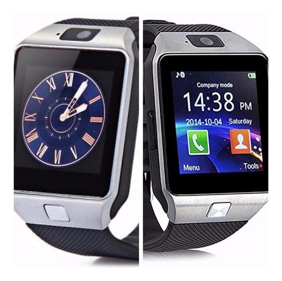 Relógio Smartwatch Bluetooth Cel. Cam Dz09 + Cartão Sd 16 Gb