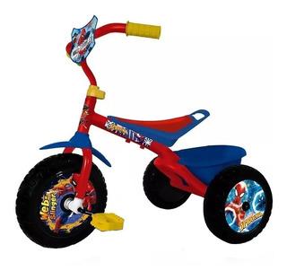 Triciclo Metalico Mid Spiderman Ultra Resistente Marvel Orig