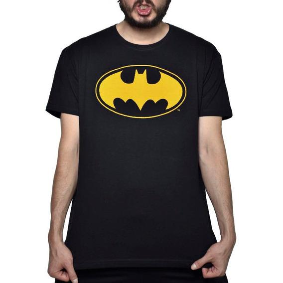 Playera Logo Batman Amarillo Dc Comics
