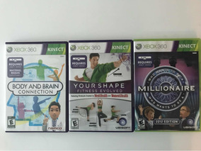 3 Jogos Kinect Xbox 360 Inclui Who Wants To Be A Millionaire