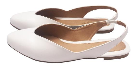 Flats Destalonados Suyan Blanco