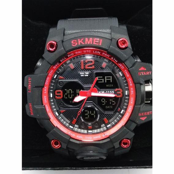 Relógio Skmei 1155b Resistente A Água 50m Vermelho Original