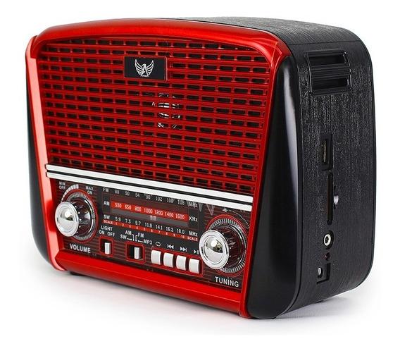 Radio Retro Altomex J107 Antigo Usb Sd Am Fm Lanterna Pilha