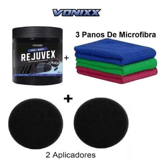 Revitalizador Plástico Vonixx Rejuvex Black 400g + Aplicador