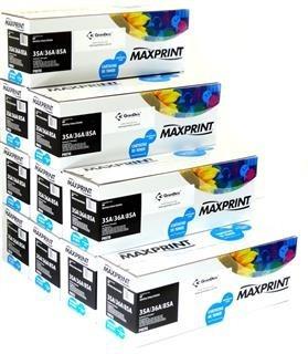 Toner Maxprint Compatível Com 85a 36a 35a Caixa 10 Toners