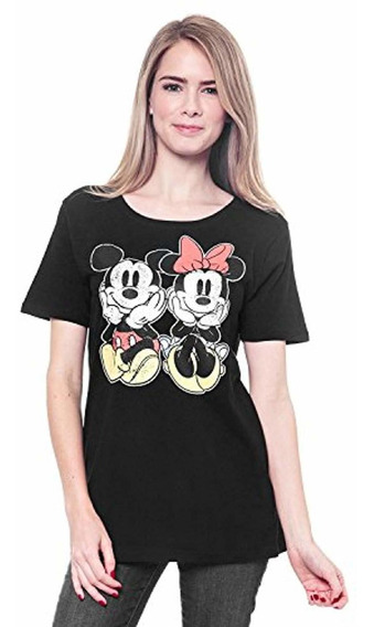 Disney Camiseta De Mujer Ajustada Afligida