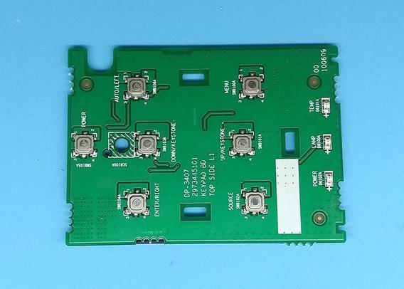 Placa De Comandos Teclado Funções - Projetor Lg Bs254