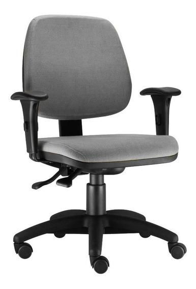 Cadeira Giratória Job Executiva Ergonomica Escritório Cinza