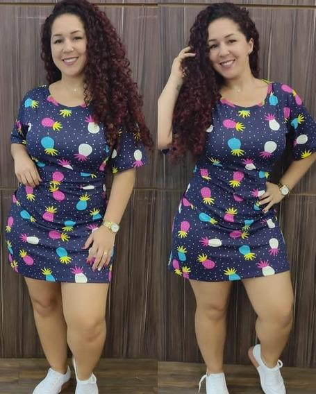 Vestido Melancia Abacaxi Plus Size Consulte Cor Preferida