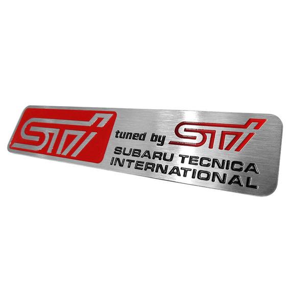 Emblema Badge Subaru Sti Adesivo Aço Inox