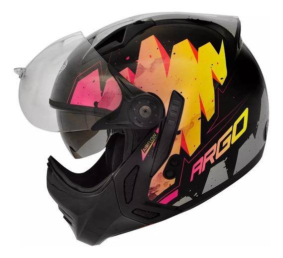 Capacete Moto Peels Mirage Argo C Oculos Rosa Fosco