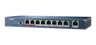 Switch Hikvision 8p Poe 300mts 1 Pto 100mbps Ds3e0109pe