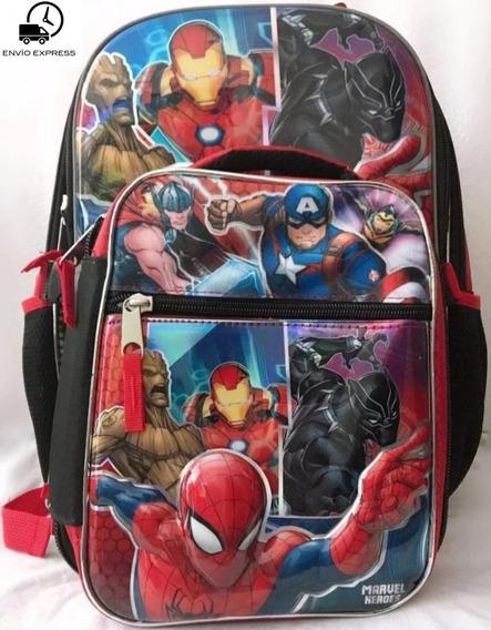 Mochila Y Lonchera Capitán América Y Avengers Marvel