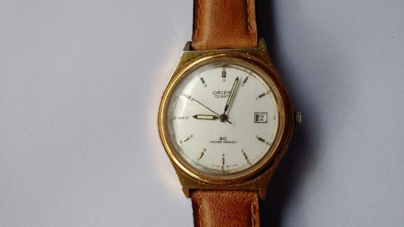 Relógio Orient Antigo Dourado Perfeito