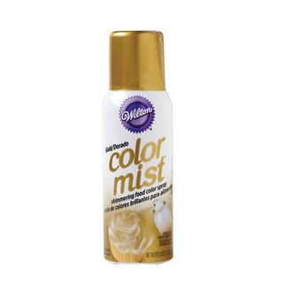 Corante Spray Dourado Para Confeitaria Profissional Wilton