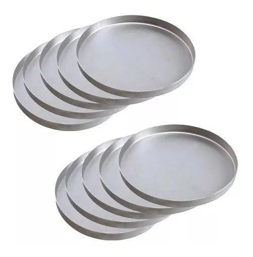 Kit Com 10 Formas Para Pizza 35 Cm Em Aluminio Duradouro