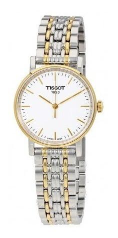 Relógio Tissot Feminino T Classic Everytime Dourado/prata