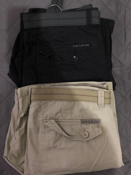 Shorts Calvin Klein 2 Al Precio De Uno Originales Talla 34