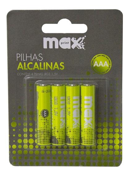 Pilha Alcalina Aaa Maxprint 756362 - Verde