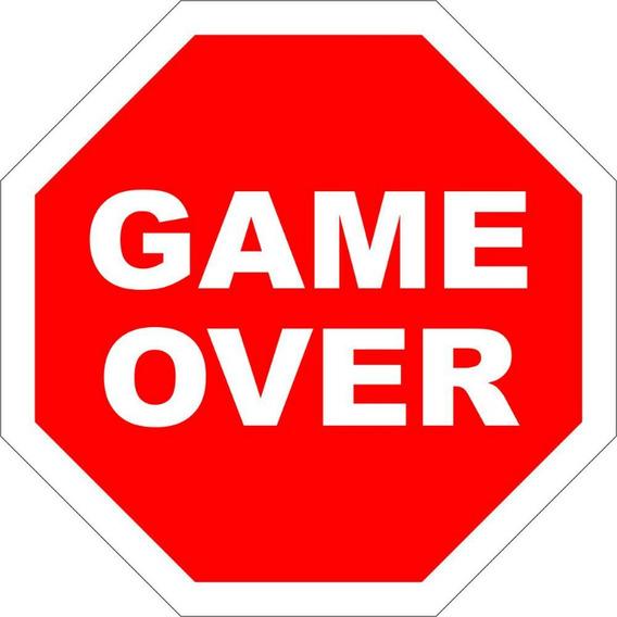 Placa Decorativa Parede Game Over Legião Nerd - Rcr Games