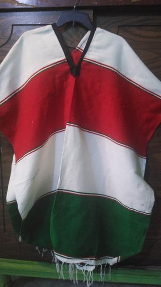 Jorongo Gaban Mexicano Tri Color Sin Escudo