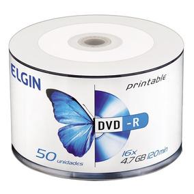 Dvd-r Elgin Midia 4.7gb 120min 16x Bulk 50